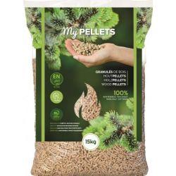 Granulés de bois My Pellets - Palette de 70 sacs de 15 kg