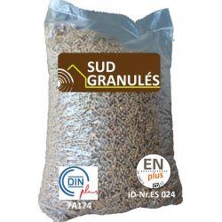 Granulés de bois Sud Granulés - Palette de 70 sacs de 15 kg