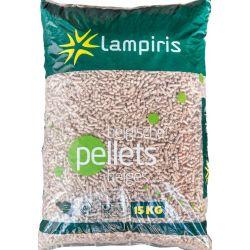 Granulés de bois Lampiris - Palette de 65 sacs de 15 kg