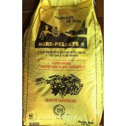 Pellets de bois Nord Pellets - Palette de 65 sacs de 15 kg