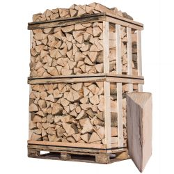 Bois de chauffage - Mélange de bois durs - 33 cm - Sec - Palette 2 m3 - 3 stères