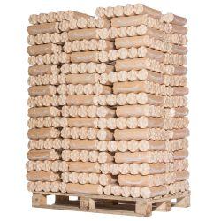 96 lots de 6 bûches de bois densifié