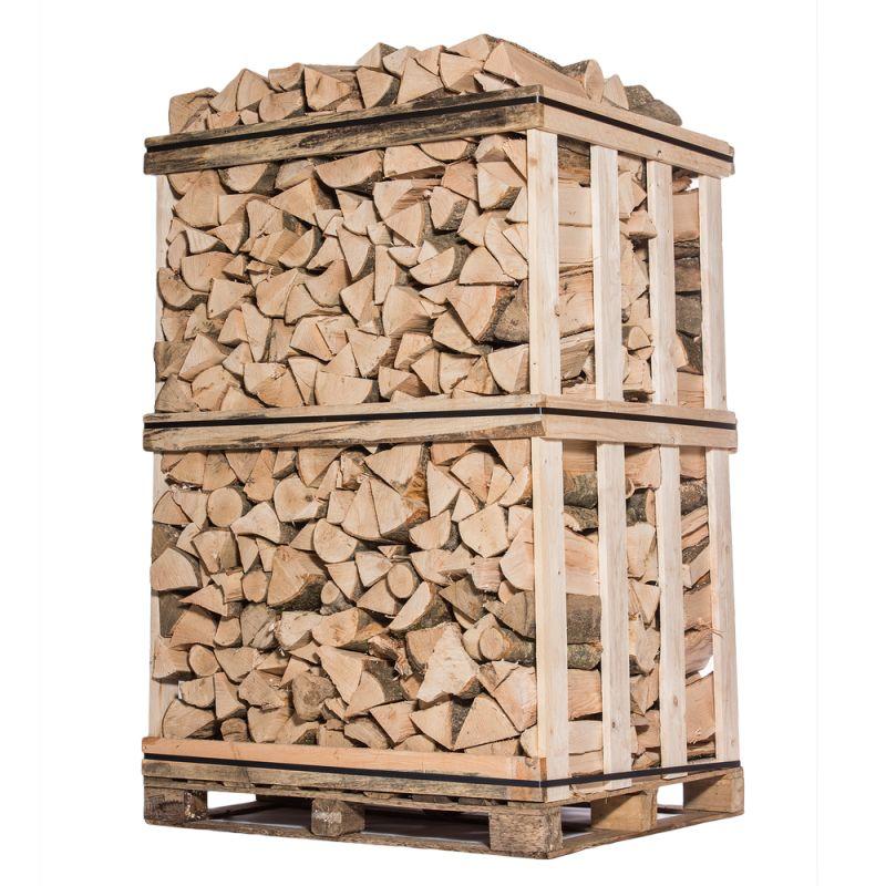 Bois de chauffage - 25 cm - Mélange de bois durs - Sec - Palette 2 m3 - 3 stères