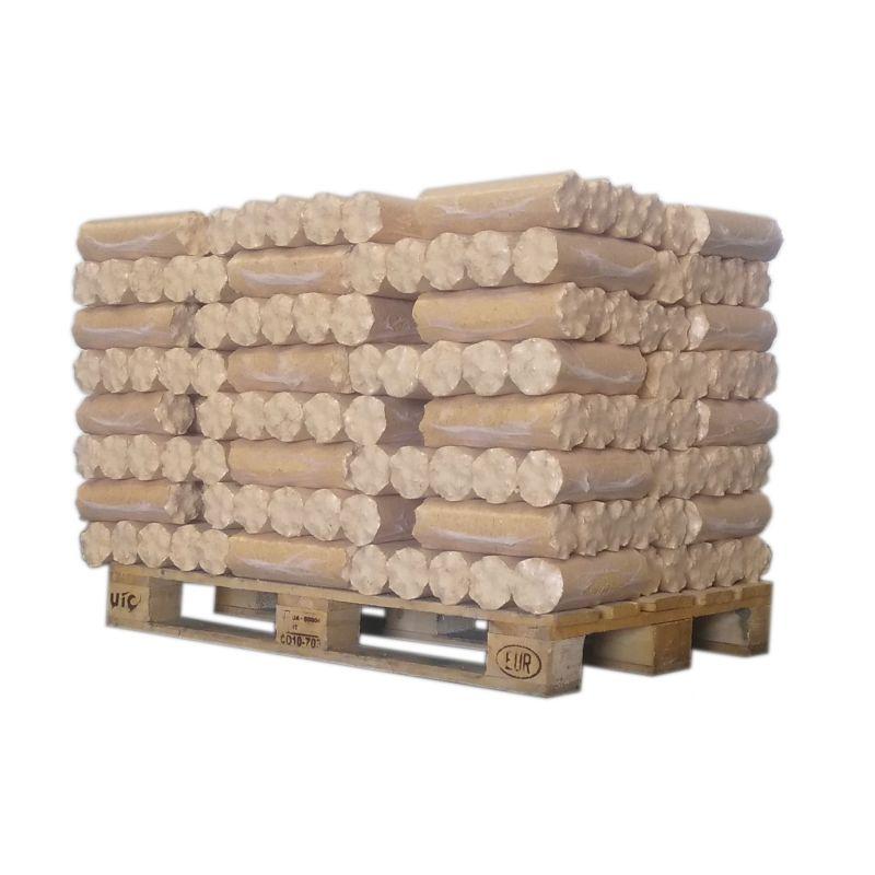 Bois densifié - Résineux - 1/2 palette de 500 kg