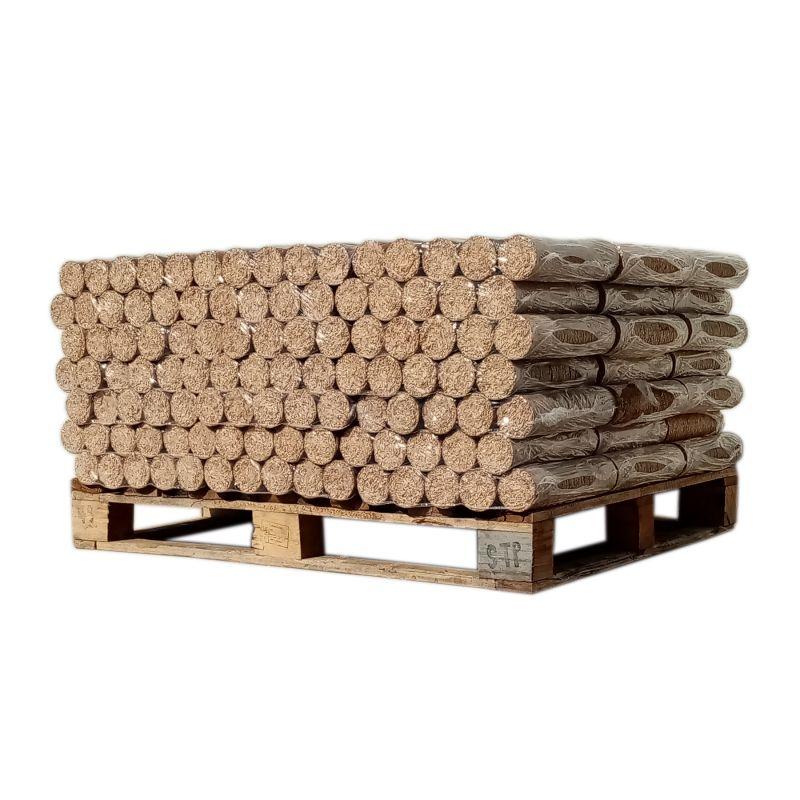 Bois densifié - Feuillus - 1/2 palette de 538 kg