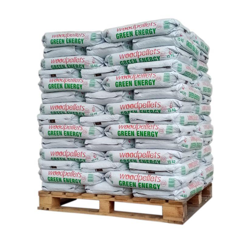 Pellet Green Energy - Palette de 65 sacs de 15 kg