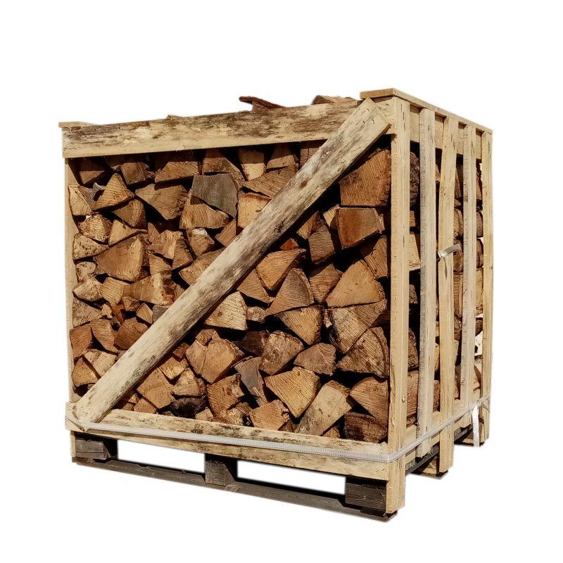Bois de chauffage - 30 cm - Sec - Mélange de bois durs - Palette 1 m3 - 1.3 stères