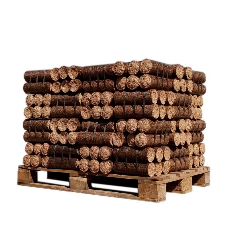 Bois densifié - Bûches de nuit - 1/2 palette de 480 kg