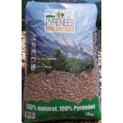 Pellets Pyrénnées Bois Energies - Palette de 65 sacs de 15 kg
