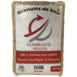 Pellet de bois Combulux - Palette de 75 sacs de 15 kg