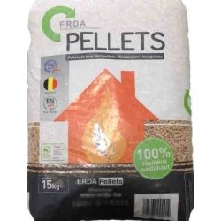 Pellet de bois Erda - Palette de 65 sacs de 15 kg