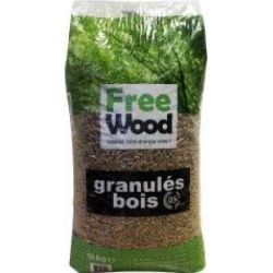 Granulés de bois Freewood - Palette de 66 sacs de 15 kg