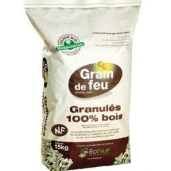 Pellets de bois Grain de feu - Palette de 65 sacs de 15 kg